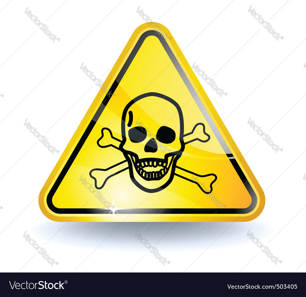 Poison sign vector | Price: 1 Credit (USD $1)