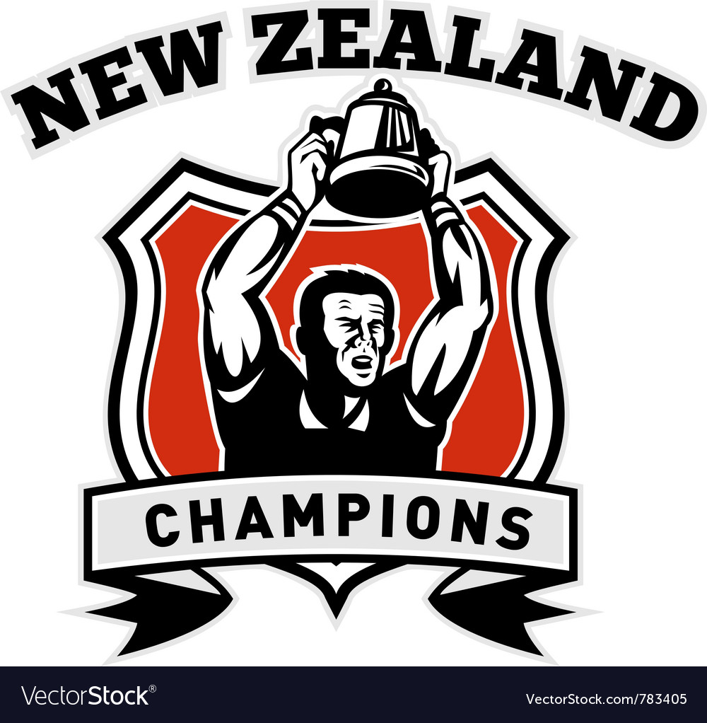 Rugby player new zealand champions vector | Price: 1 Credit (USD $1)