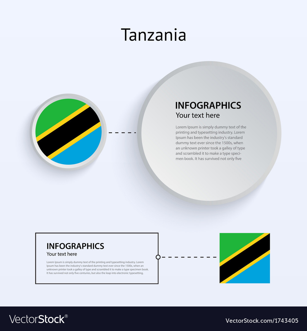 Tanzania country set of banners vector | Price: 1 Credit (USD $1)