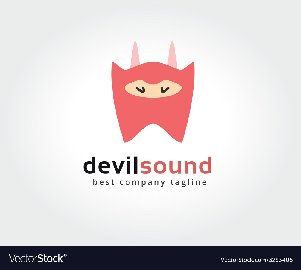 Abstract devil character logo icon concept vector | Price: 1 Credit (USD $1)