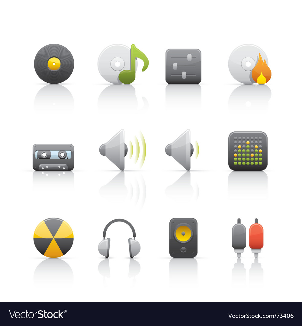 Audio equipment icons vector | Price: 1 Credit (USD $1)