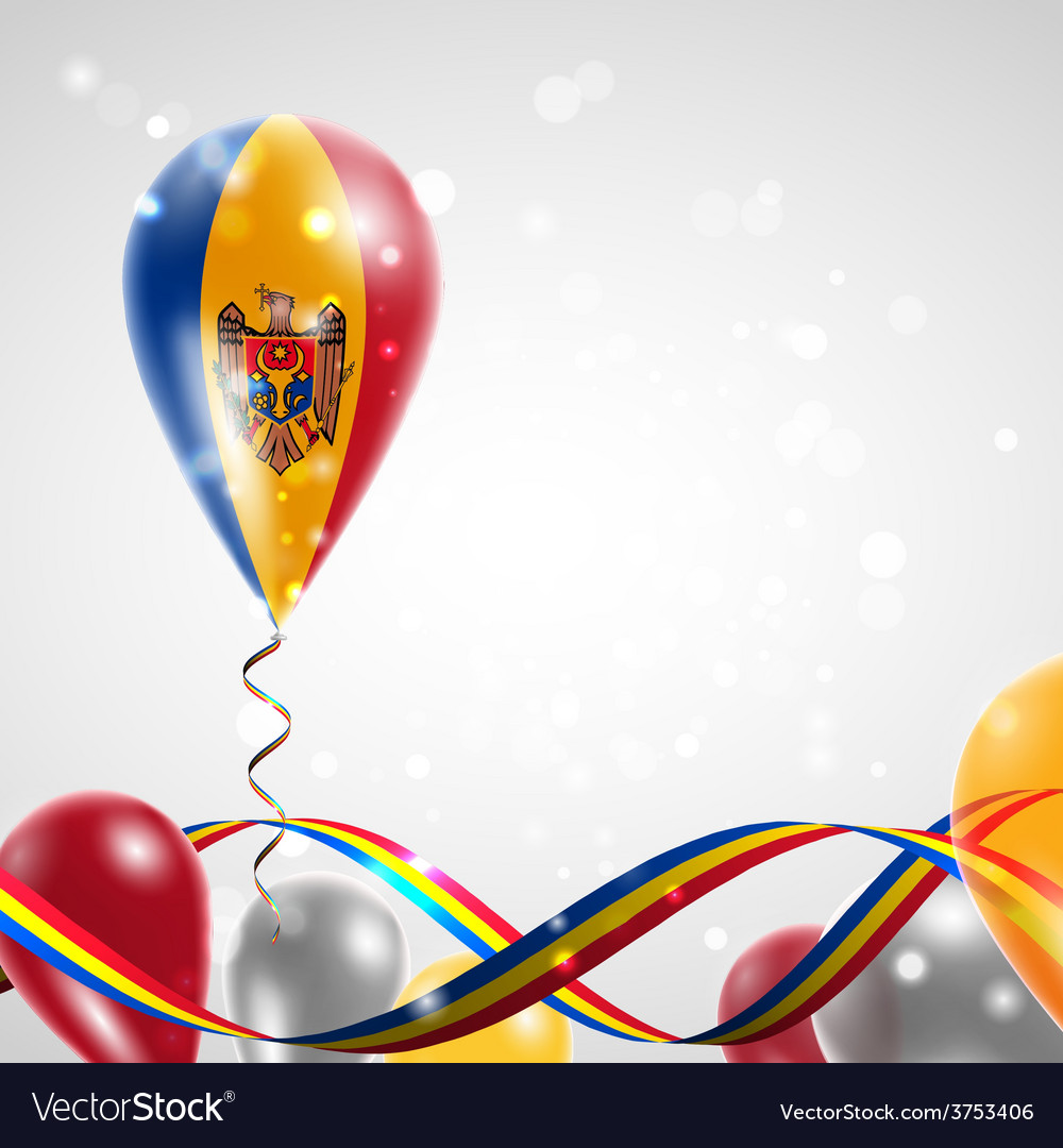 The flag of moldova on balloon vector | Price: 1 Credit (USD $1)