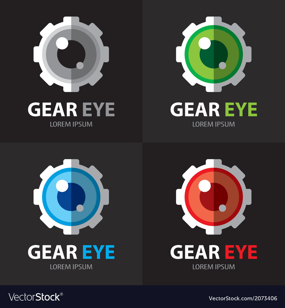 Gear eye symbol icon vector | Price: 1 Credit (USD $1)