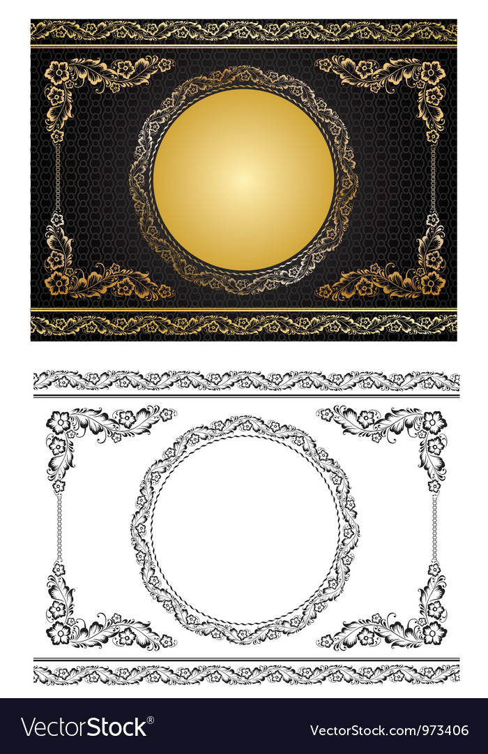 Gold radial ornament vector | Price: 1 Credit (USD $1)