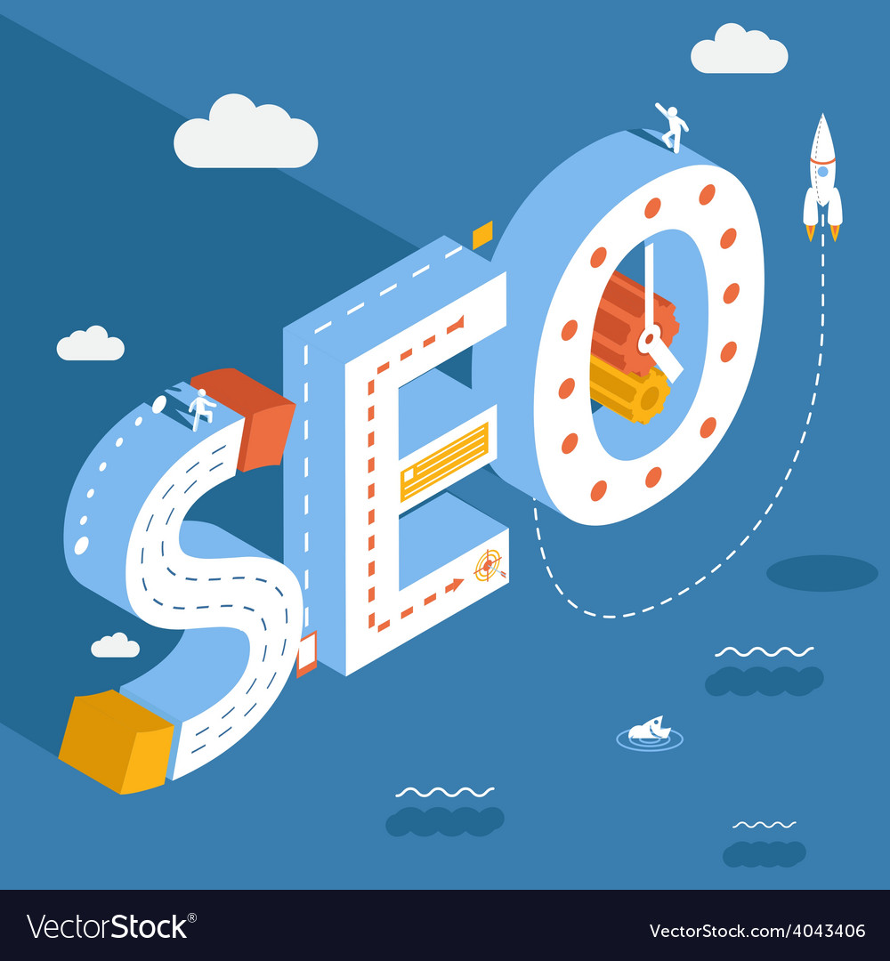 Isometric seo success internet searching vector | Price: 1 Credit (USD $1)