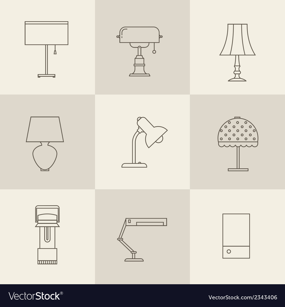 Lamps styles vector | Price: 1 Credit (USD $1)
