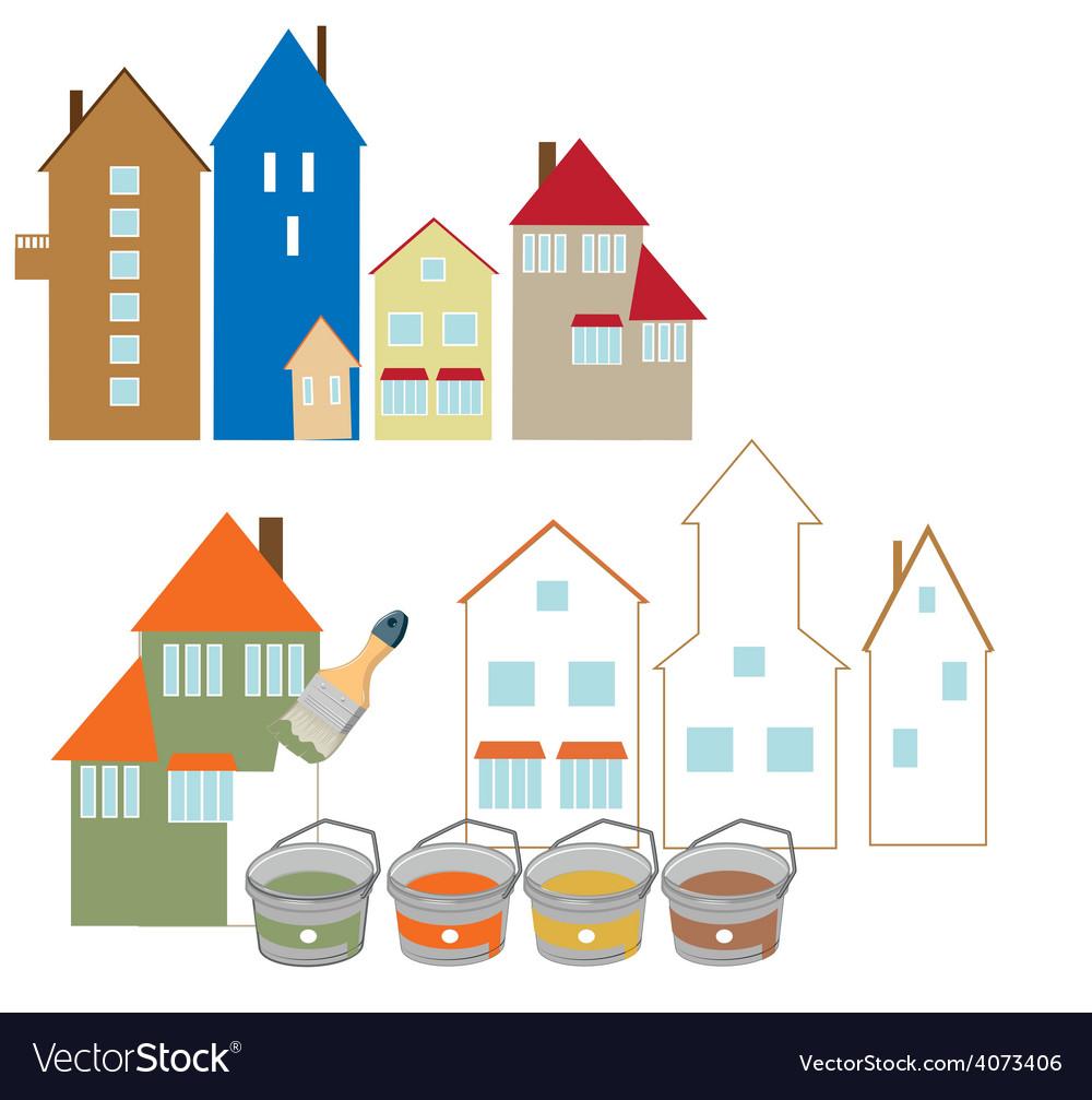 Repair of facades vector   Price: 1 Credit (USD $1)