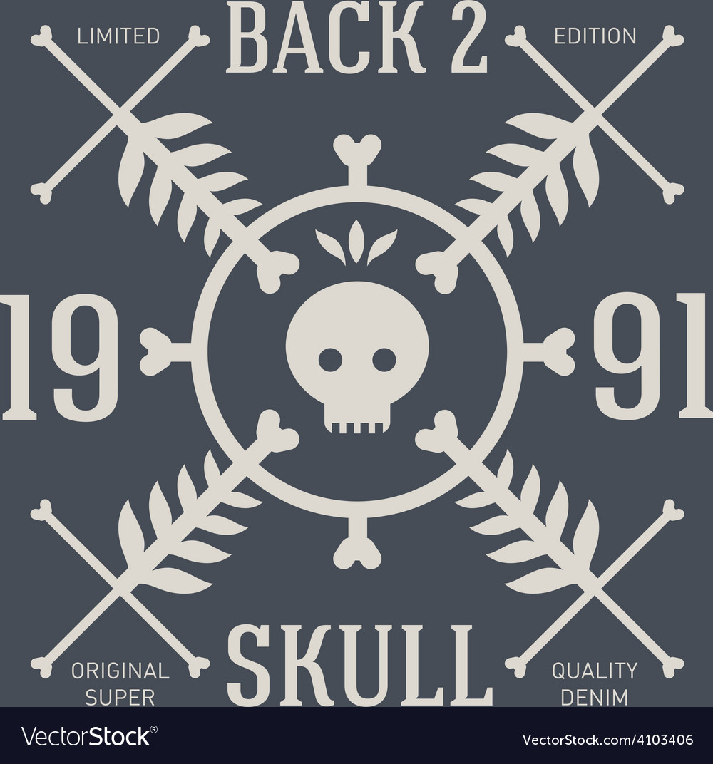 Skull t-shirt design original tee print graphics vector | Price: 1 Credit (USD $1)
