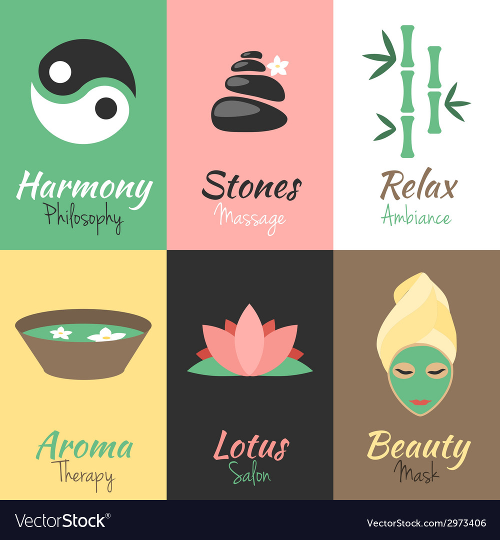 Spa mini posters set vector | Price: 1 Credit (USD $1)