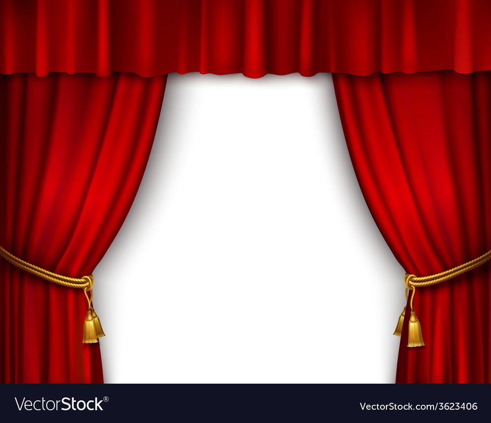 Stage curtain isolated vector | Price: 1 Credit (USD $1)
