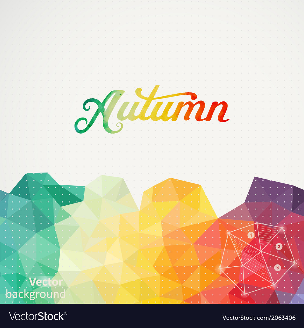 Triangle background with autumn wa vector | Price: 1 Credit (USD $1)