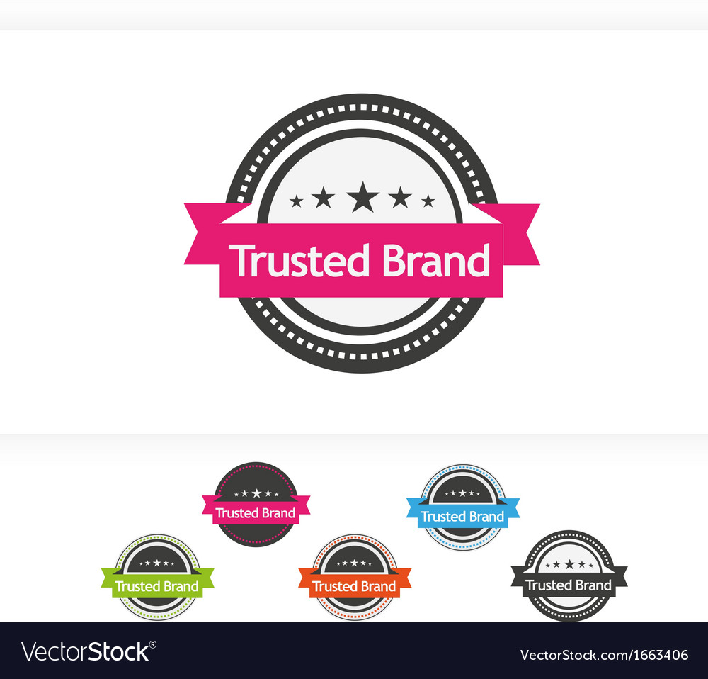 Trusted brand icons vector | Price: 1 Credit (USD $1)