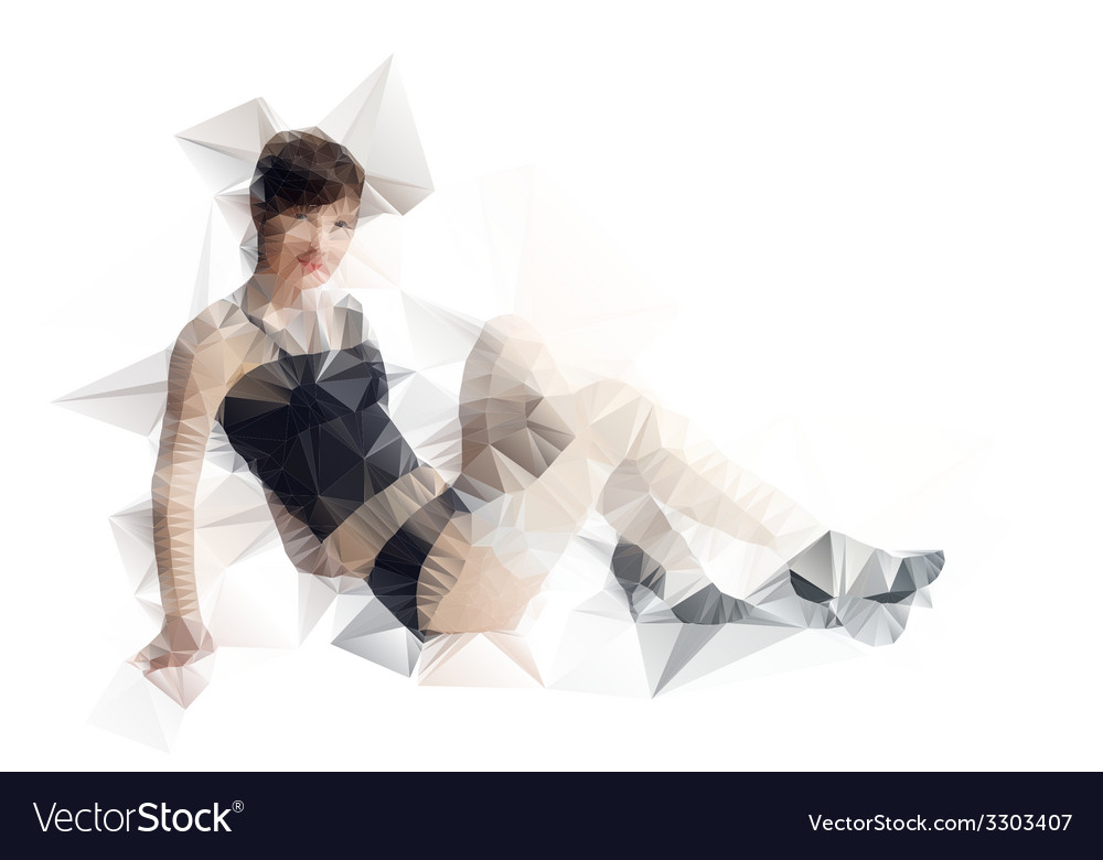 Abstract polygonal body triangles portrait for vector | Price: 1 Credit (USD $1)