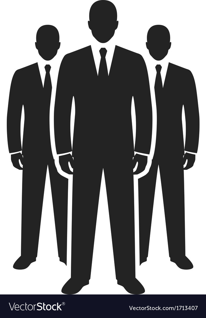 Business team black icon leadership concept vector | Price: 1 Credit (USD $1)