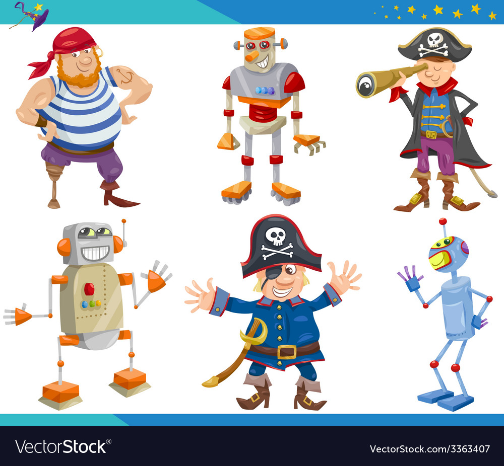 Cartoon fantasy characters set vector | Price: 3 Credit (USD $3)