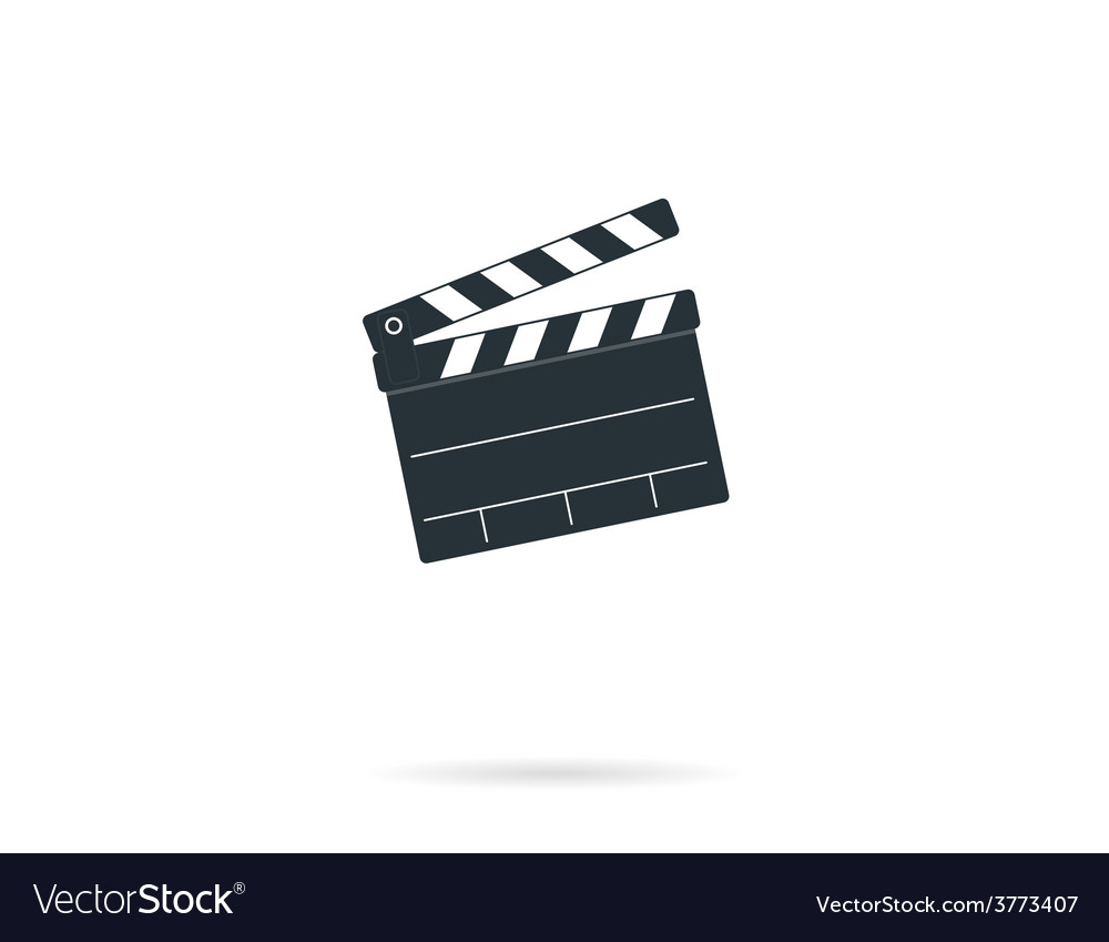 Cinema clapper board vector | Price: 1 Credit (USD $1)