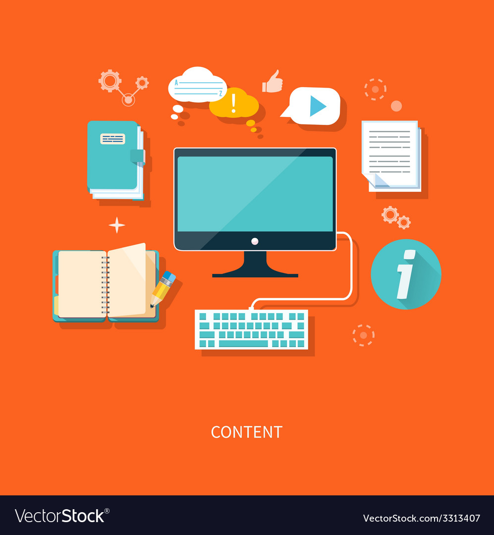 Content concept vector | Price: 1 Credit (USD $1)