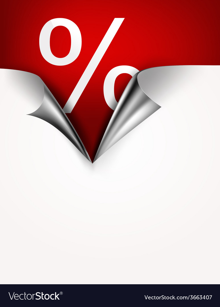Coupon banner with torn edge vector | Price: 1 Credit (USD $1)