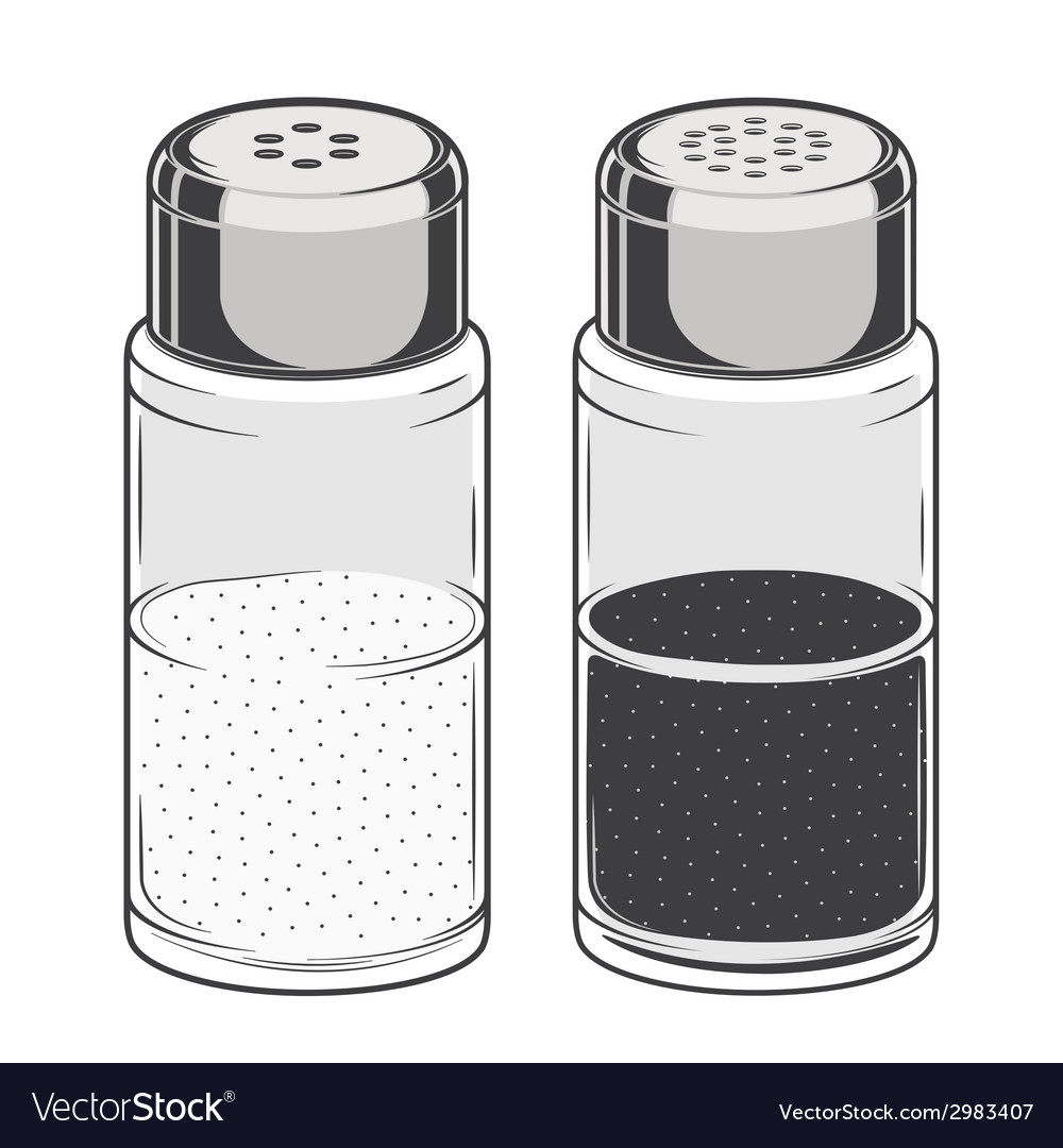 Glass salt and pepper shakers vector | Price: 1 Credit (USD $1)
