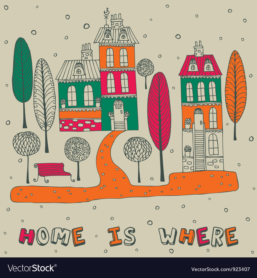 Home sweet home background vector | Price: 1 Credit (USD $1)