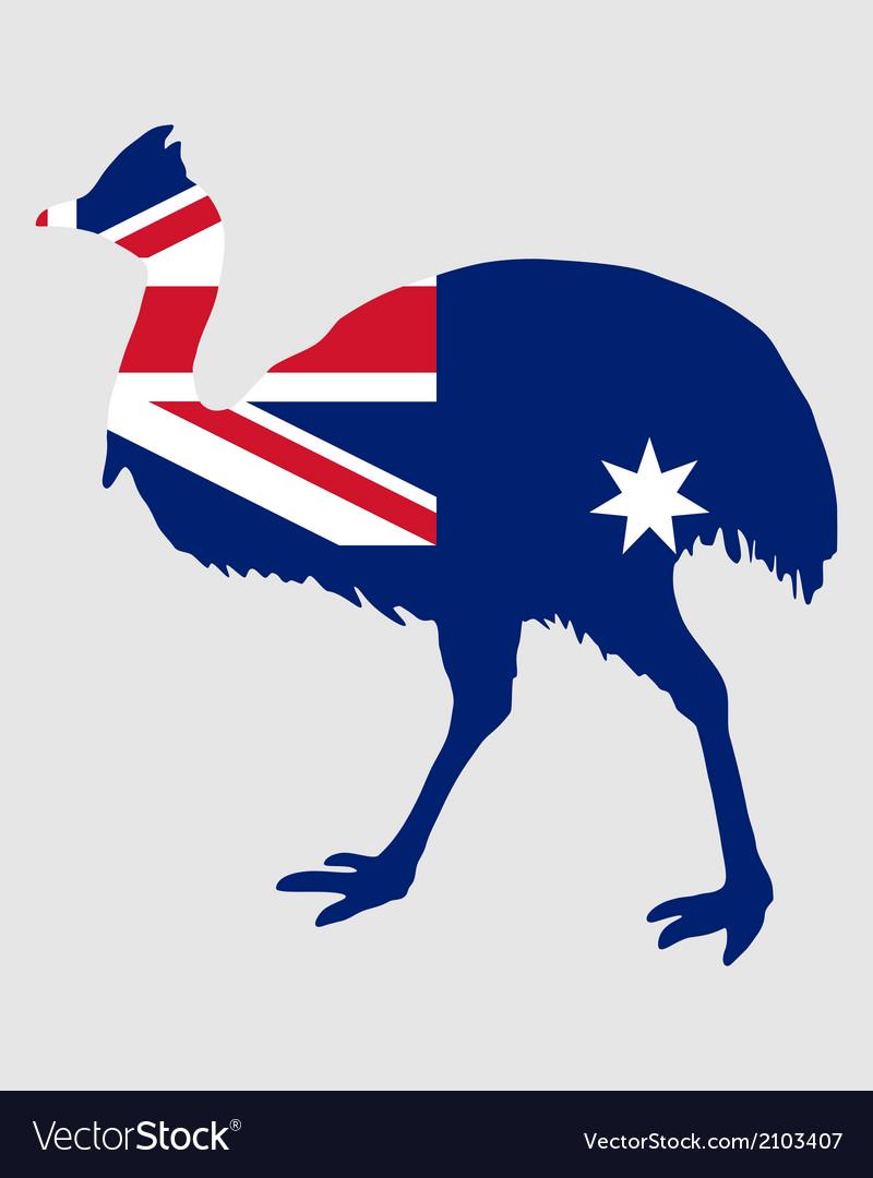 Kassowary australia vector | Price: 1 Credit (USD $1)