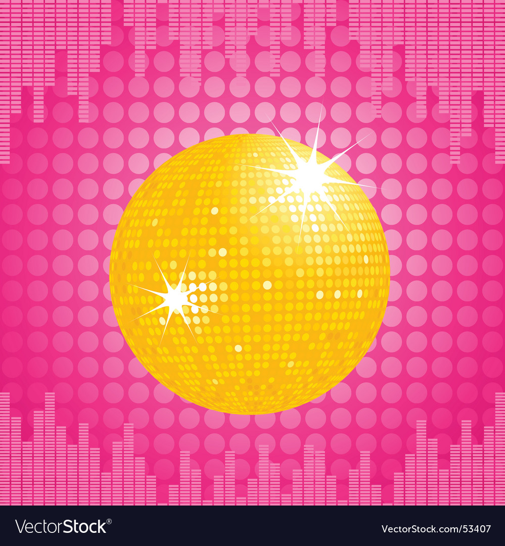 Orange disco ball and equalizer vector | Price: 1 Credit (USD $1)