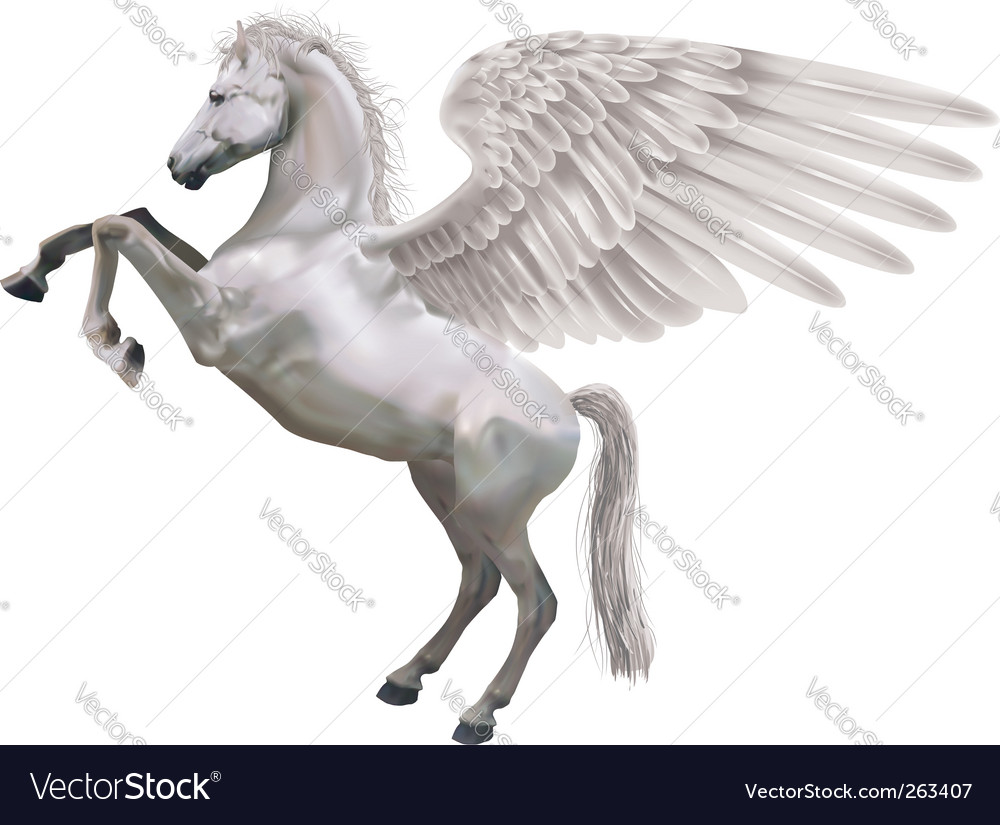Pegasus horse vector | Price: 3 Credit (USD $3)