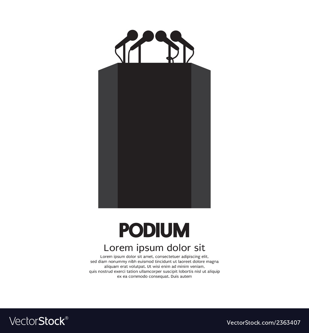 Podium vector | Price: 1 Credit (USD $1)