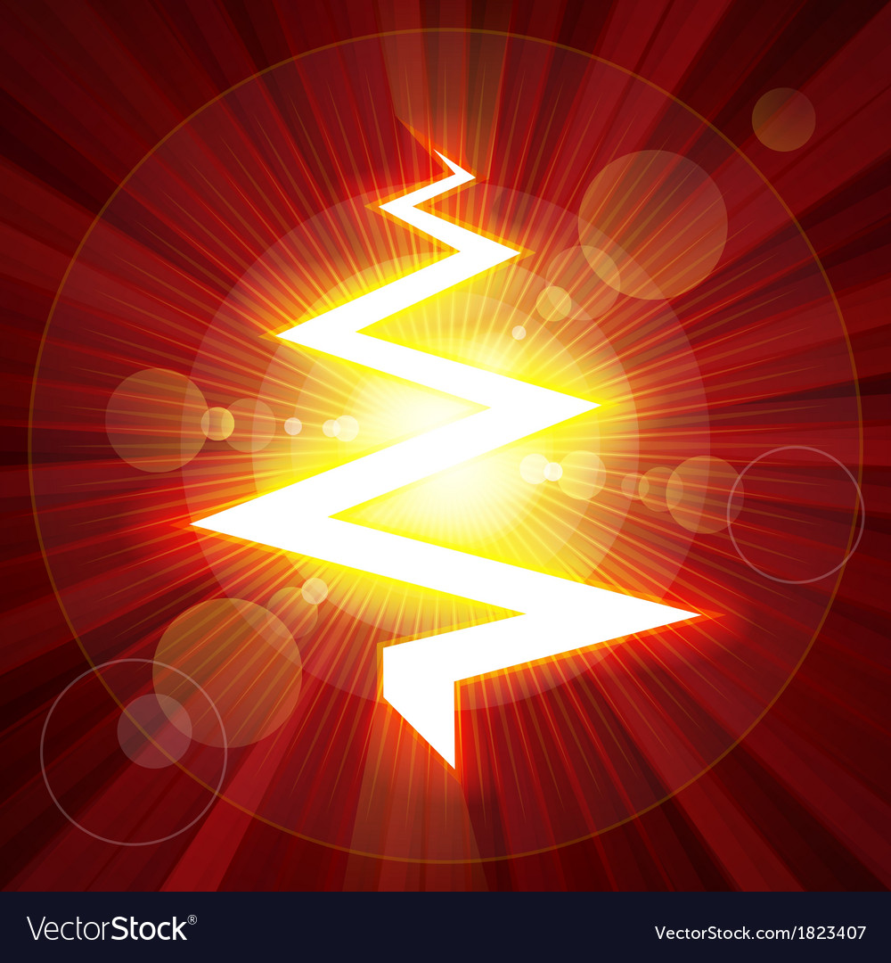 Red color lightning christmas tree vector | Price: 1 Credit (USD $1)