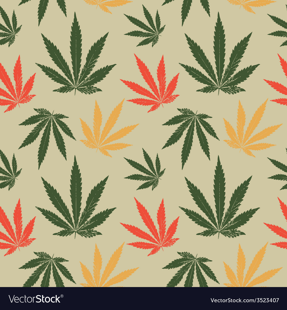 Seamless pattern of cannabis leaf vector | Price: 1 Credit (USD $1)