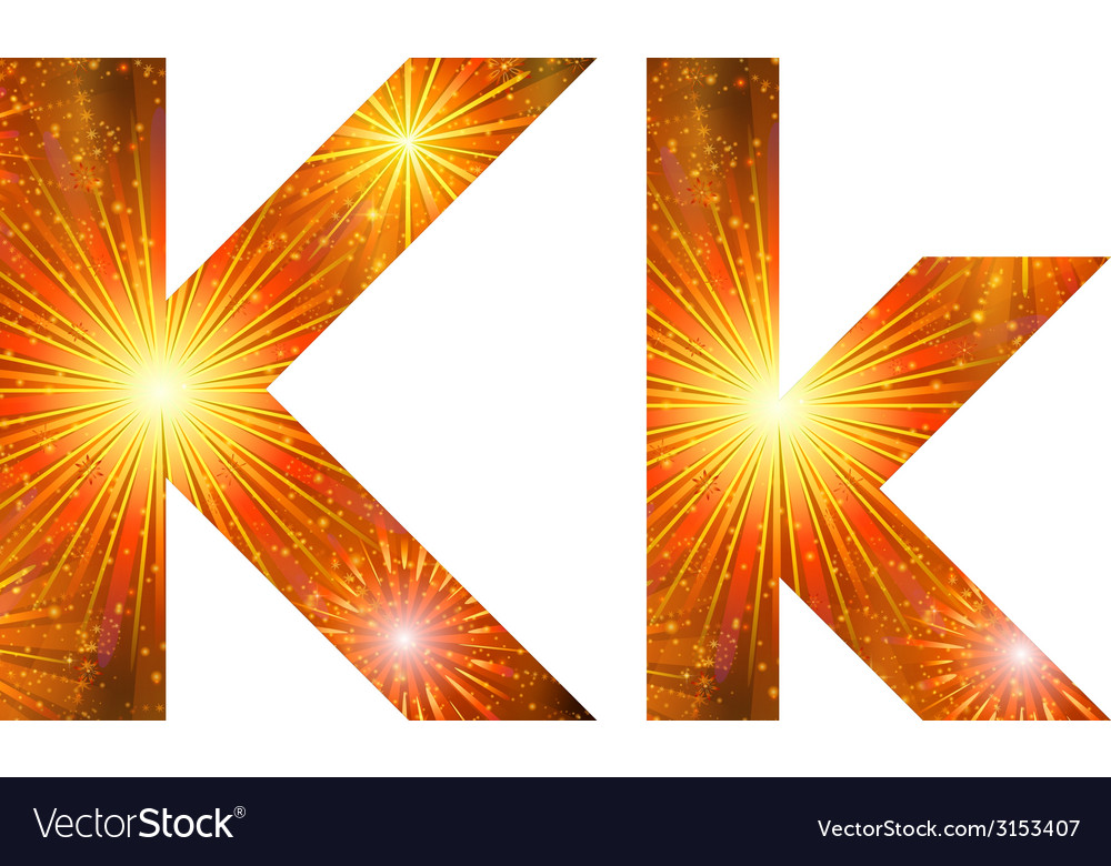 Set of letters firework k vector | Price: 1 Credit (USD $1)