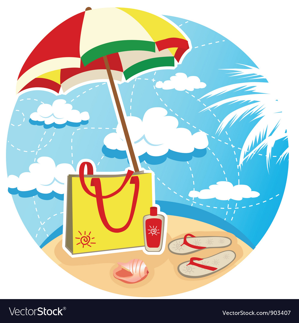 Summer beach vector | Price: 3 Credit (USD $3)