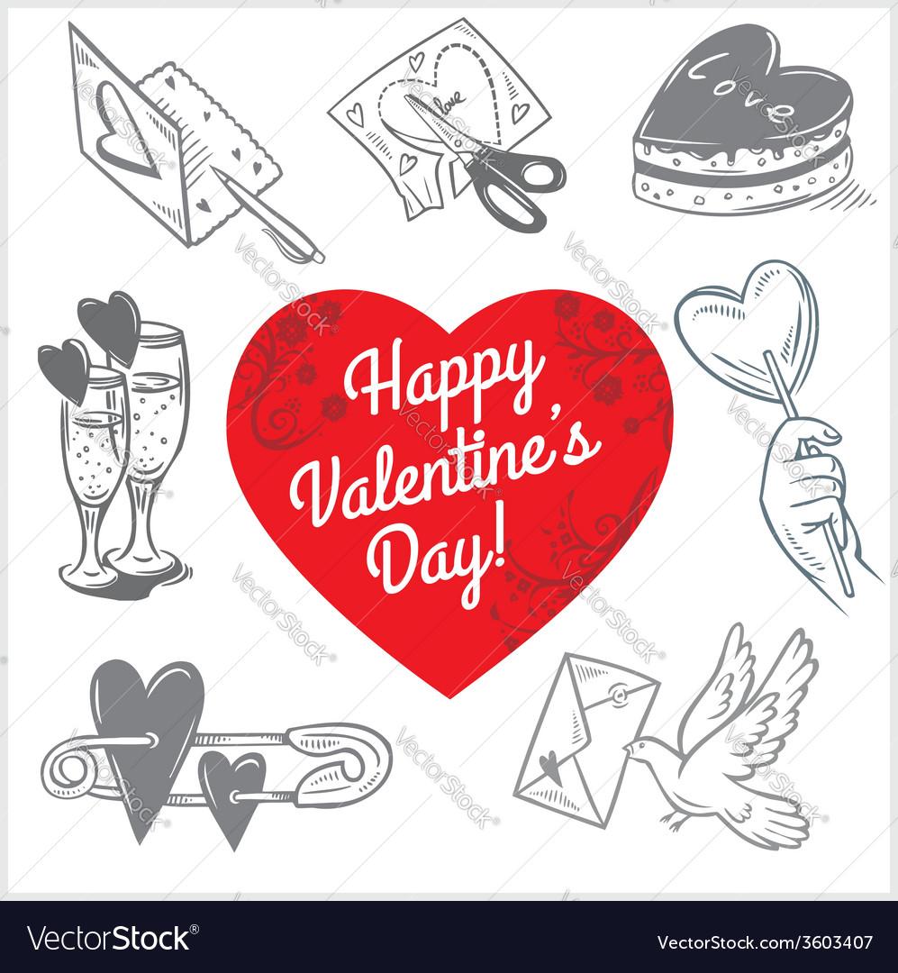 Valentines day - set vector | Price: 1 Credit (USD $1)