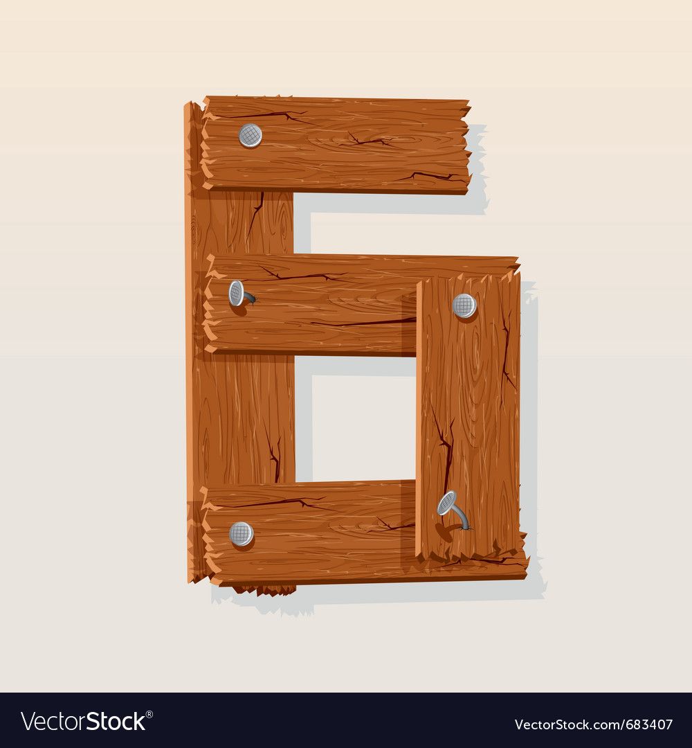 Wooden type 6 vector   Price: 1 Credit (USD $1)