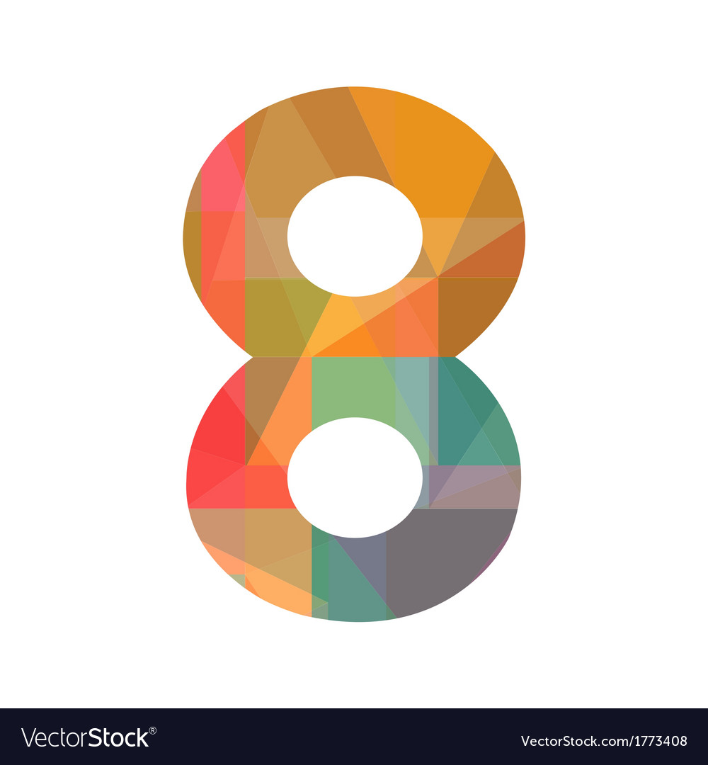 A colorful number eight vector | Price: 1 Credit (USD $1)
