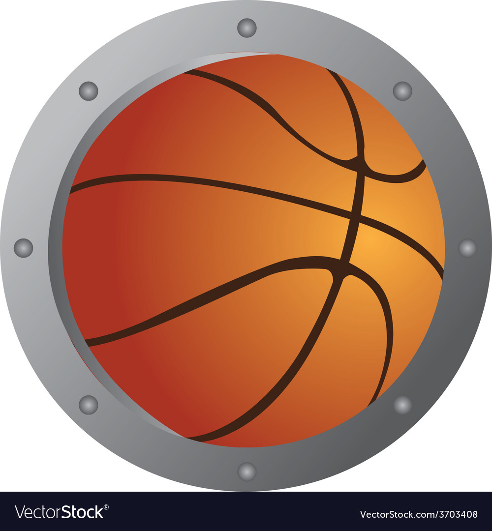 An isolated basketball ball with a metal border vector   Price: 1 Credit (USD $1)