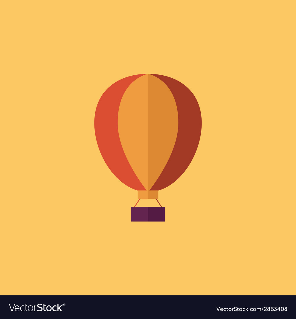 Balloon transportation flat icon vector | Price: 1 Credit (USD $1)