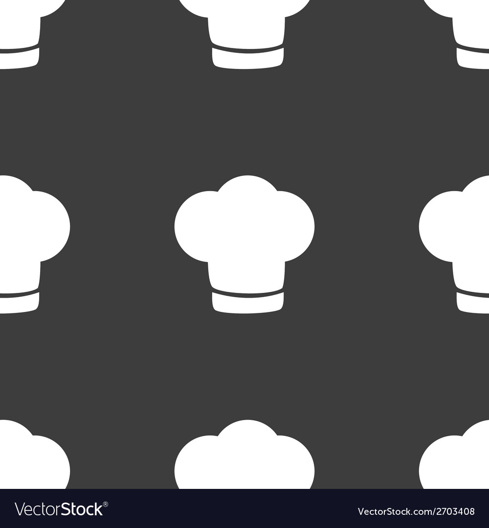 Chef cap web icon flat design seamless gray vector | Price: 1 Credit (USD $1)