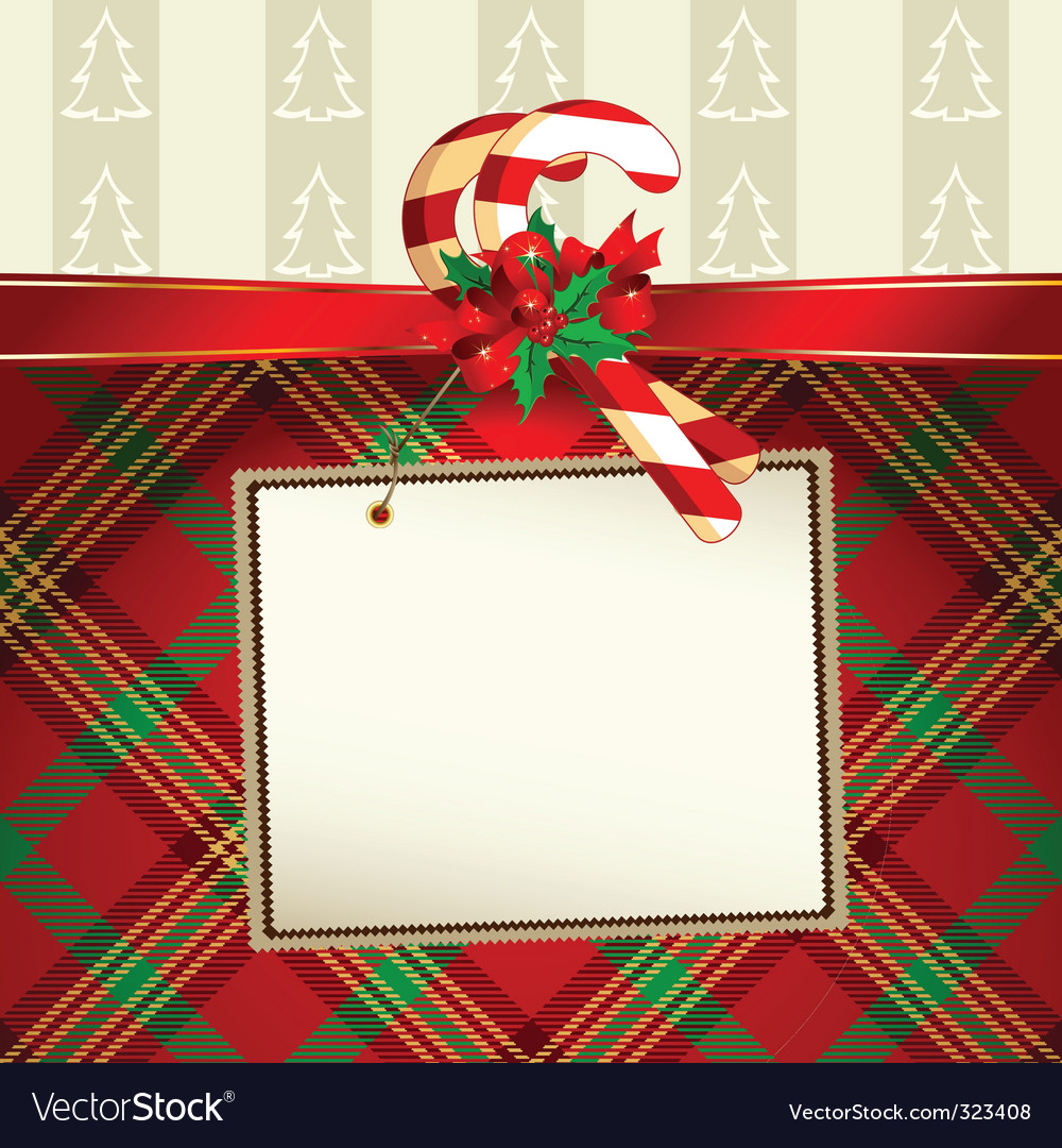Christmas decoration with tag vector | Price: 1 Credit (USD $1)