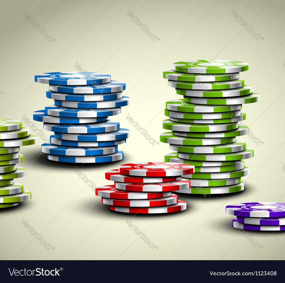 Colorful casino chips vector | Price: 1 Credit (USD $1)