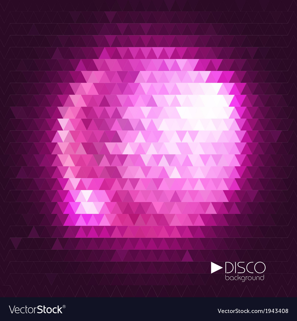 Disco ball mosaic background vector | Price: 1 Credit (USD $1)