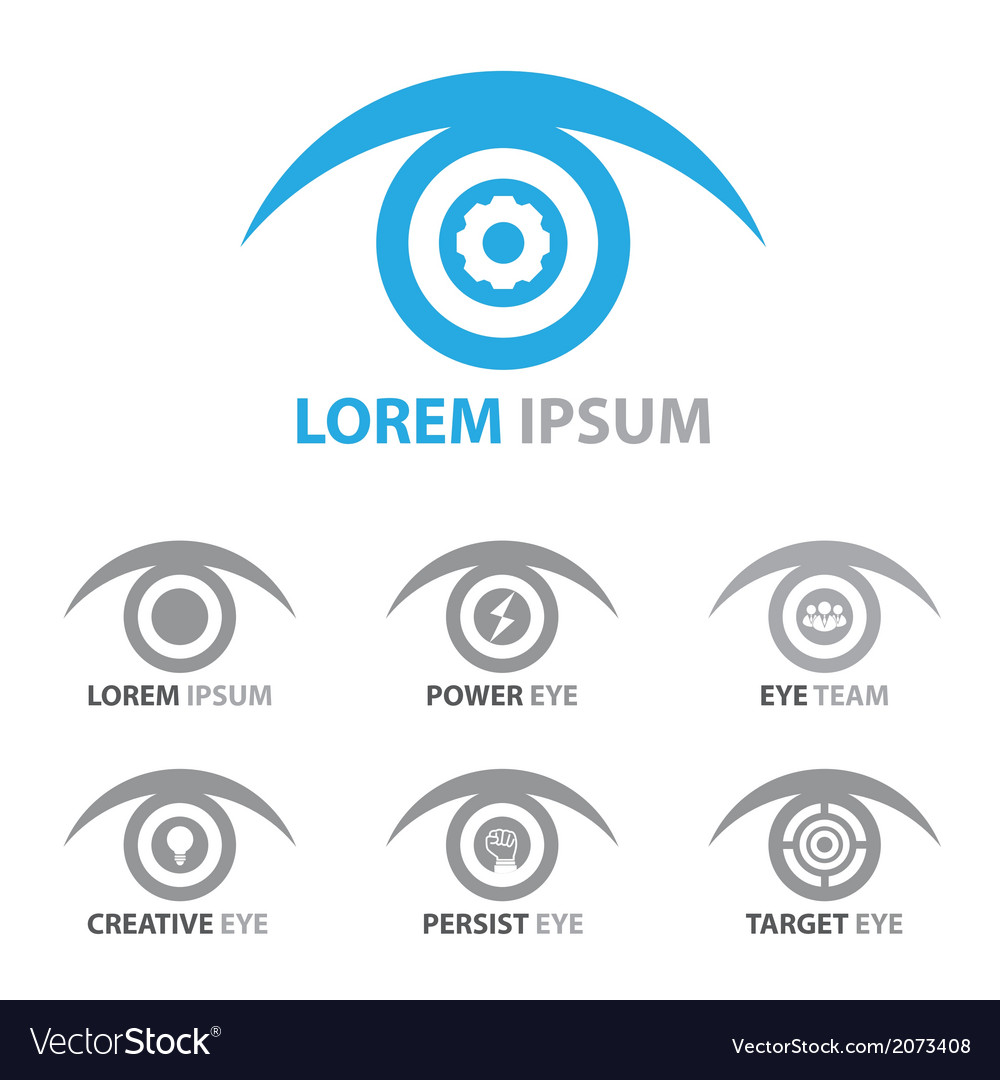 Eye icon symbol set vector | Price: 1 Credit (USD $1)
