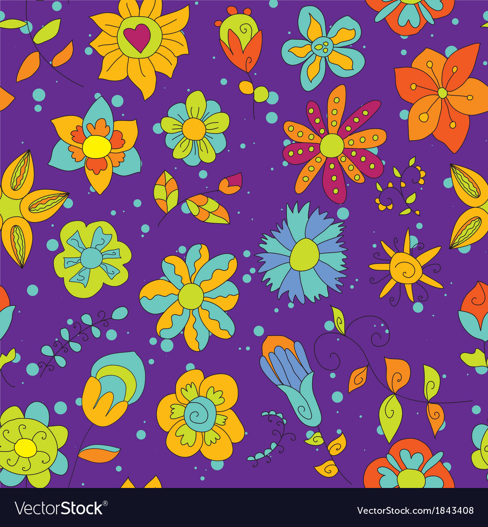 Floral bright pattern vector | Price: 1 Credit (USD $1)