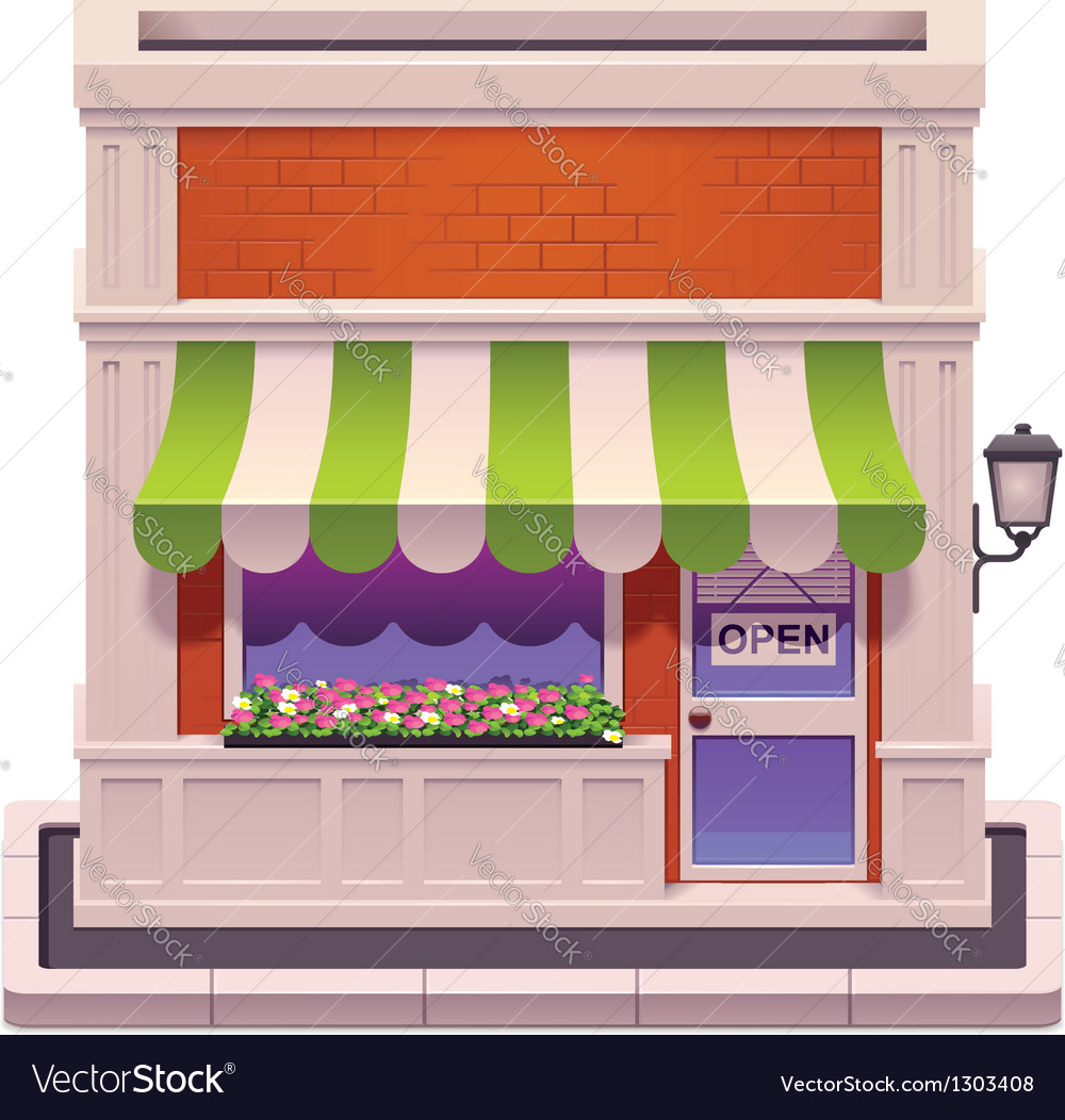 Small shop icon vector | Price: 3 Credit (USD $3)