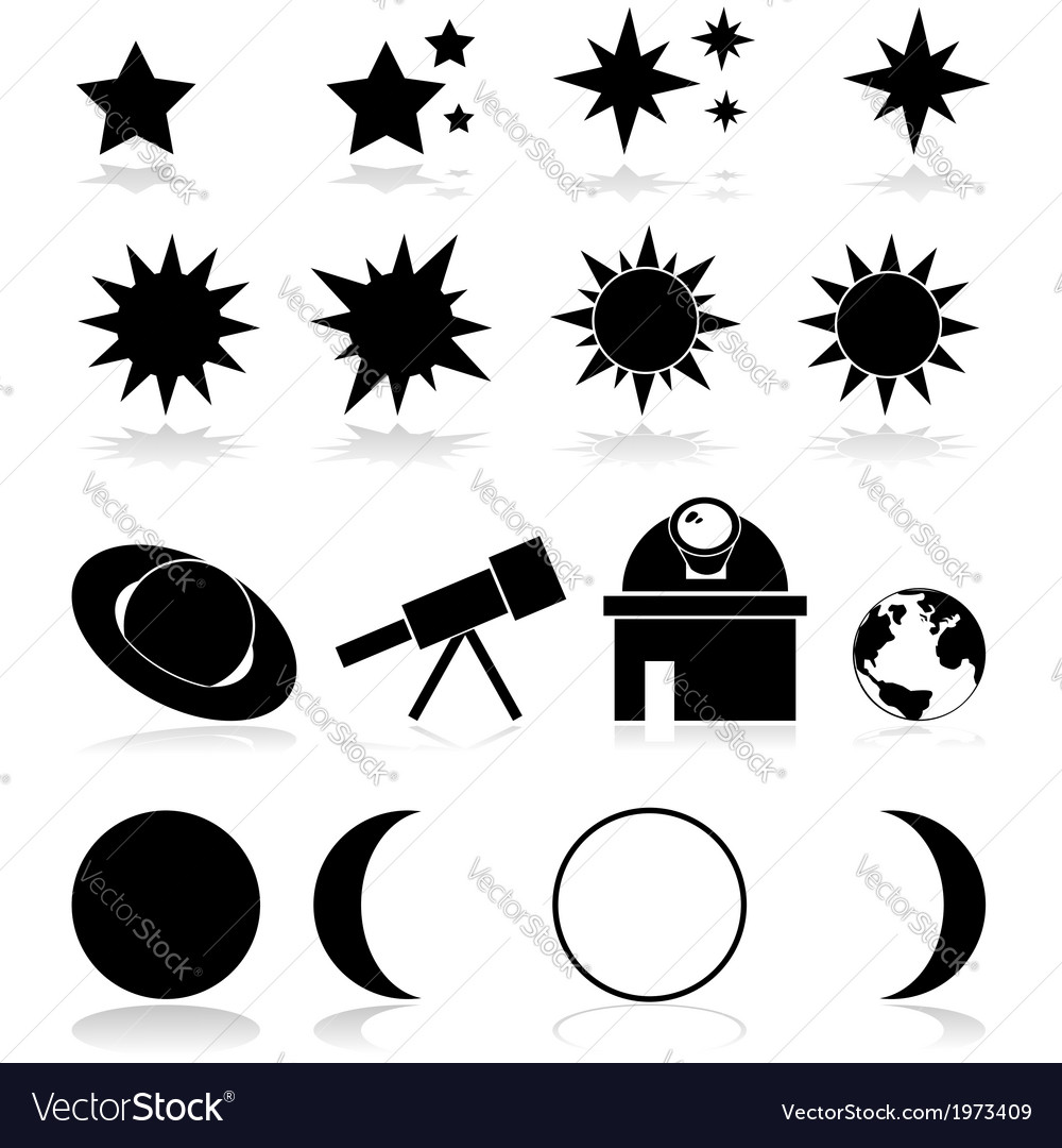 Astronomy icons vector | Price: 1 Credit (USD $1)