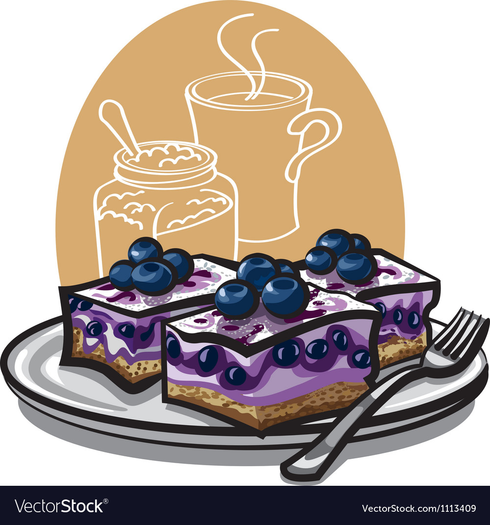 Blueberry cakes vector | Price: 3 Credit (USD $3)