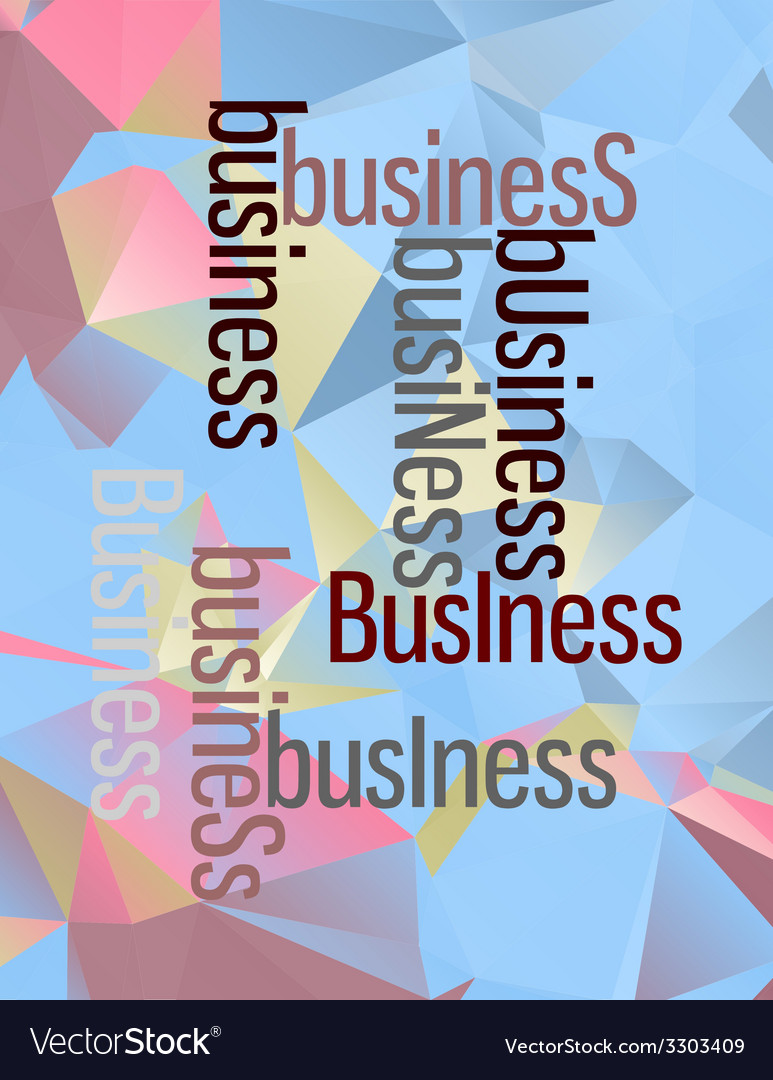 Business abstract concept design on triangles vector | Price: 1 Credit (USD $1)