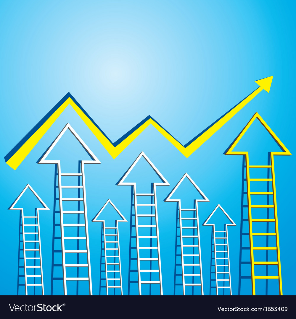 Business graph of arrow ladder vector | Price: 1 Credit (USD $1)