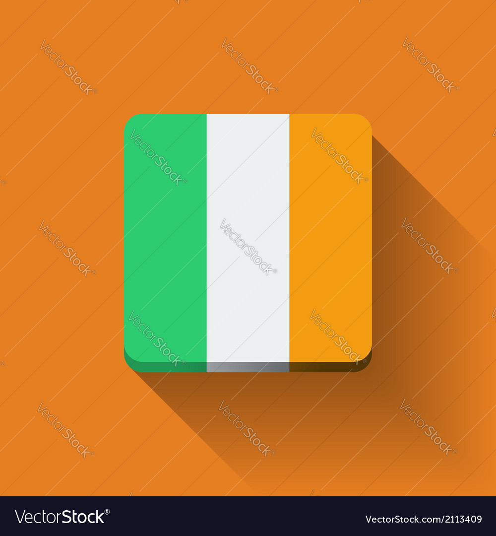 Button with flag of ireland vector | Price: 1 Credit (USD $1)