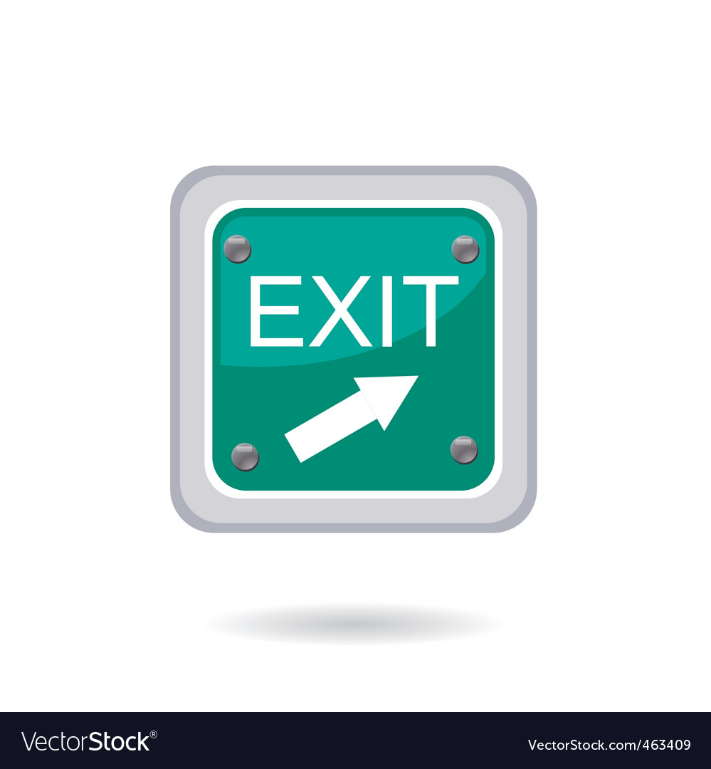 Exit icon vector | Price: 1 Credit (USD $1)